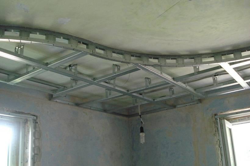 Как сделать каркас для потолка из гипсокартона