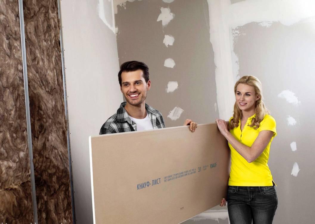 Как приклеить к стене гипсокартон
