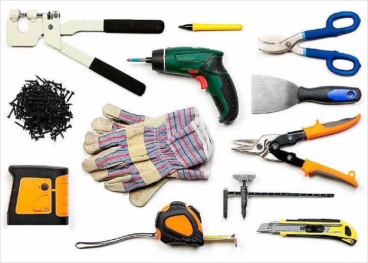 Инструменты для шпаклевки потолка из гипсокартона