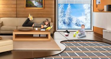 Как устроен теплый пол под плитку инфракрасный?