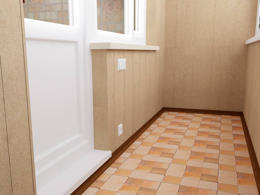 Покрытие пола на балконе плиткой