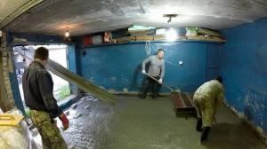 Заливка пола гаража бетоном