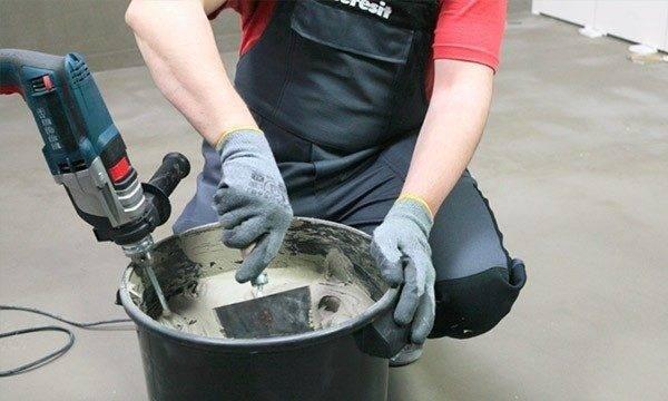 Приготовление клеящей смеси