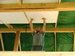 Утепеление потолка пенопластом