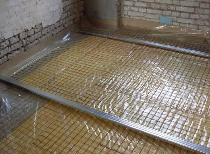 Подготовительный этап сухой стяжки