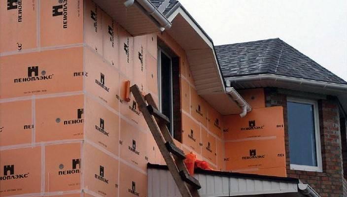 Утепление стен дома пеноплексом