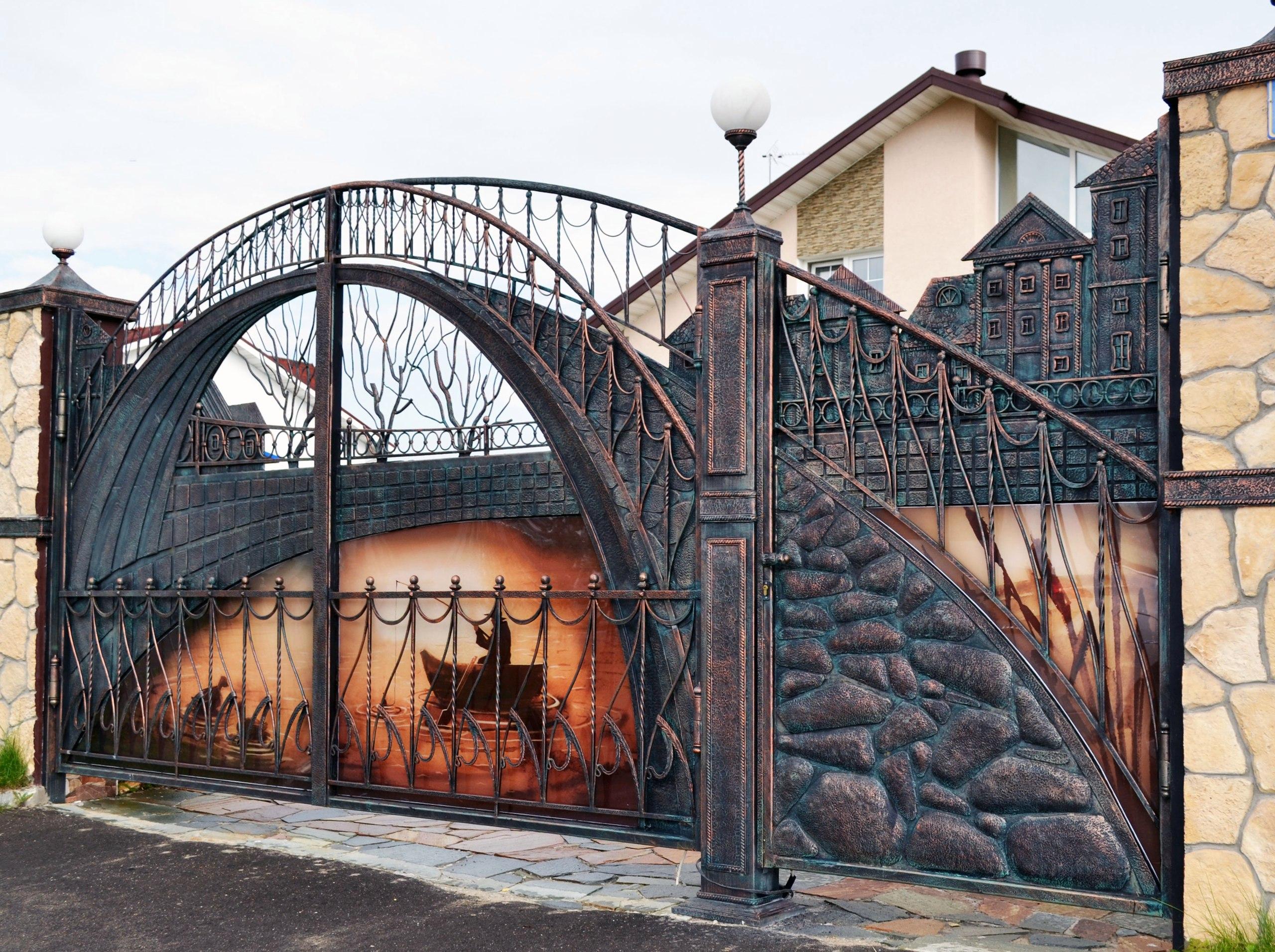 Кованые ворота своими руками фото 291