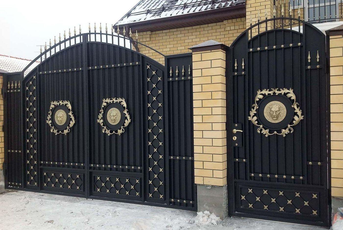 Кованые ворота своими руками фото 445