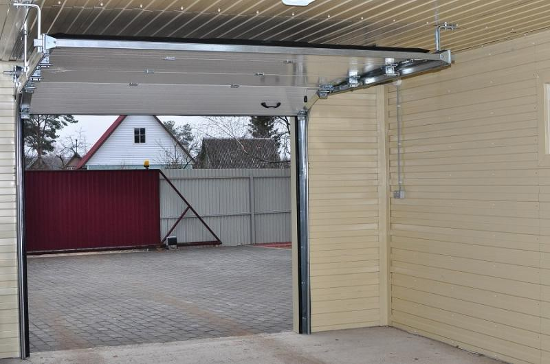 Ворота секционные для гаража своими руками 99
