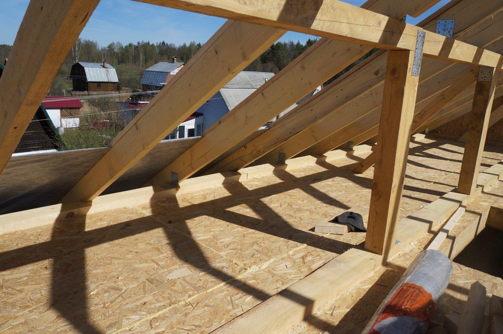 Крыша каркасного домика своими руками 52