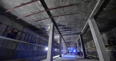 Строительство станции метро «Шушары»