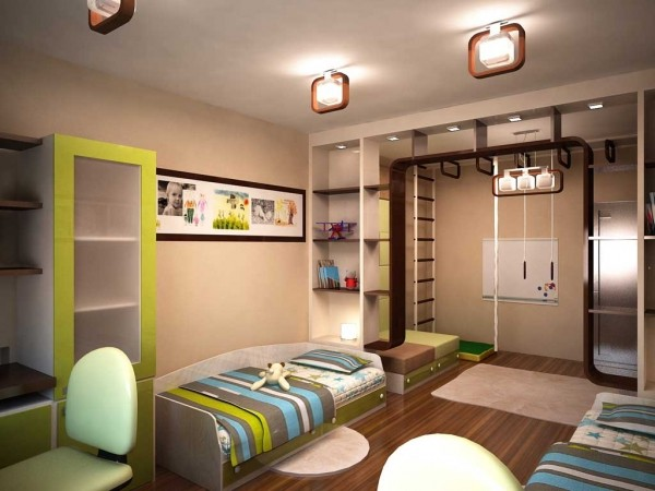 Designing a children's room for two boys