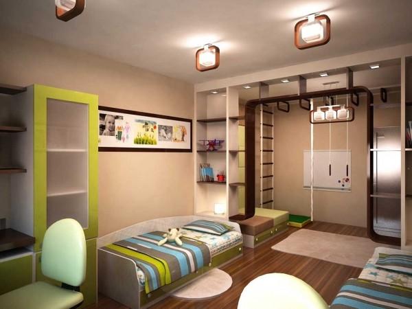 Oblikovanje otroške sobe za dva fanta