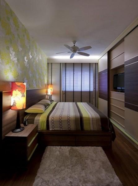 Интерьер узкой спальни в хрущевках фото