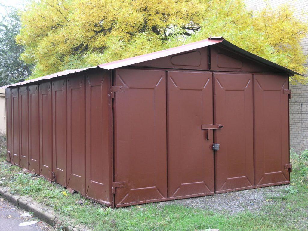 Металлическая коробка гаража