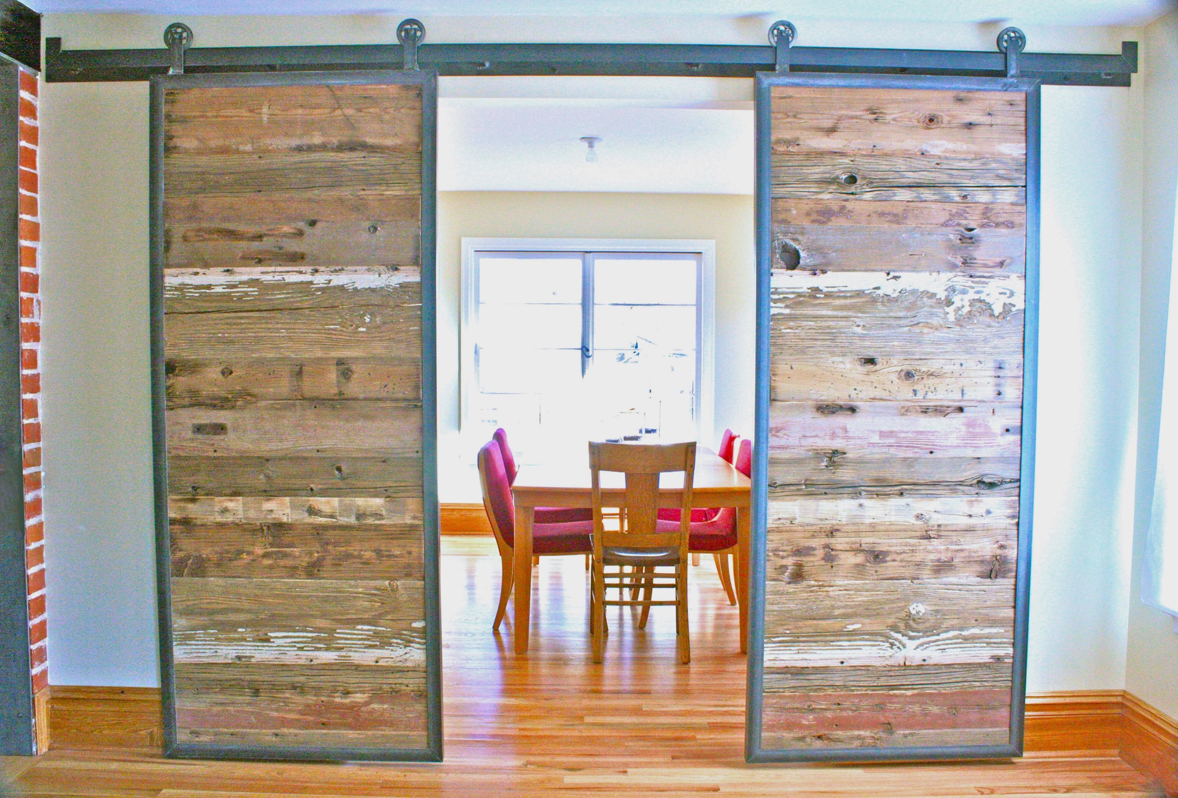 деревянная раздвижная дверь своими руками