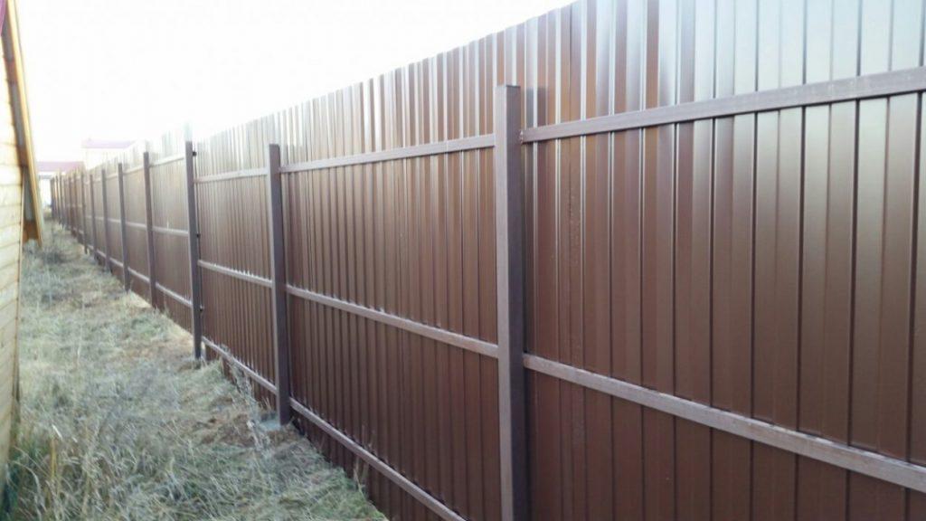 Забор на трех лагах