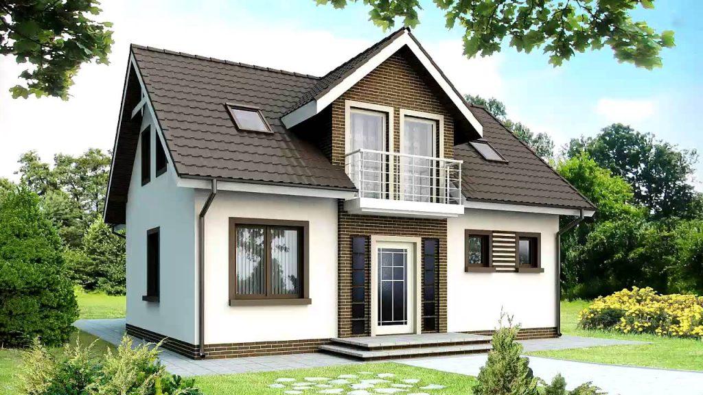 Пеноблочный дом с балконом