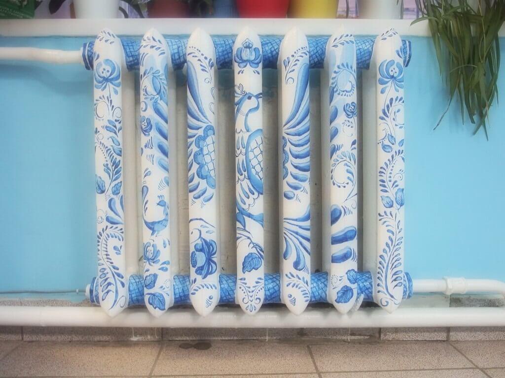 Роспись в голубых тонах