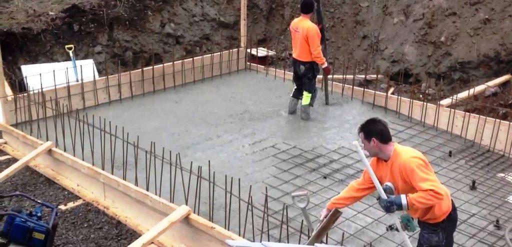 Возведение бетонной конструкции