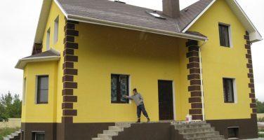 Белый цемент как материал для штукатурки фасадов
