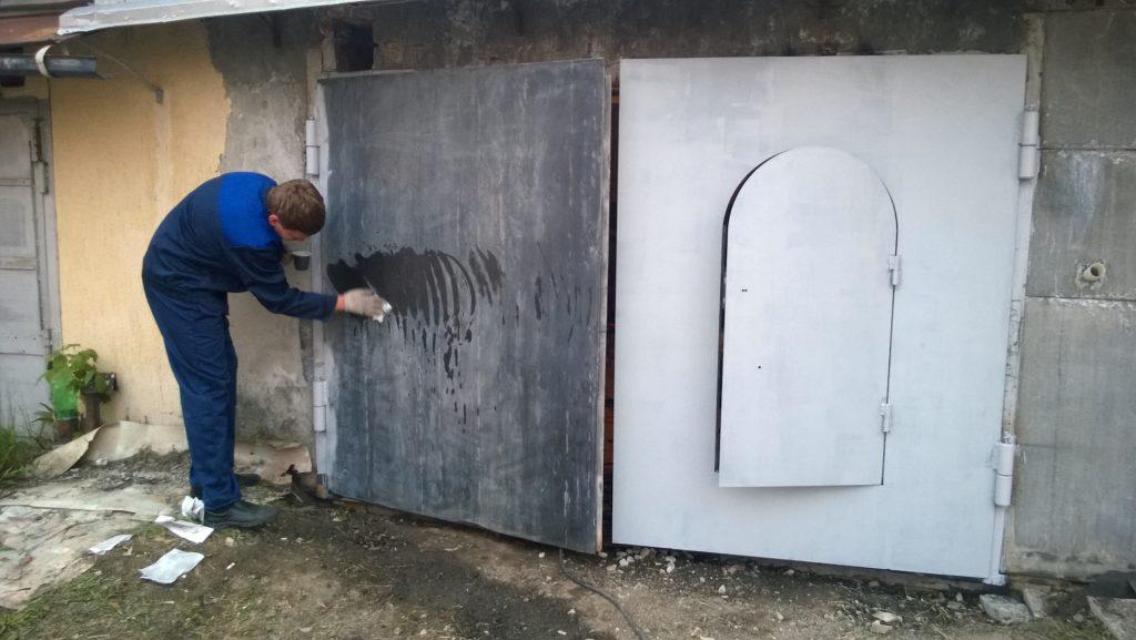 Обезжиривание ворот