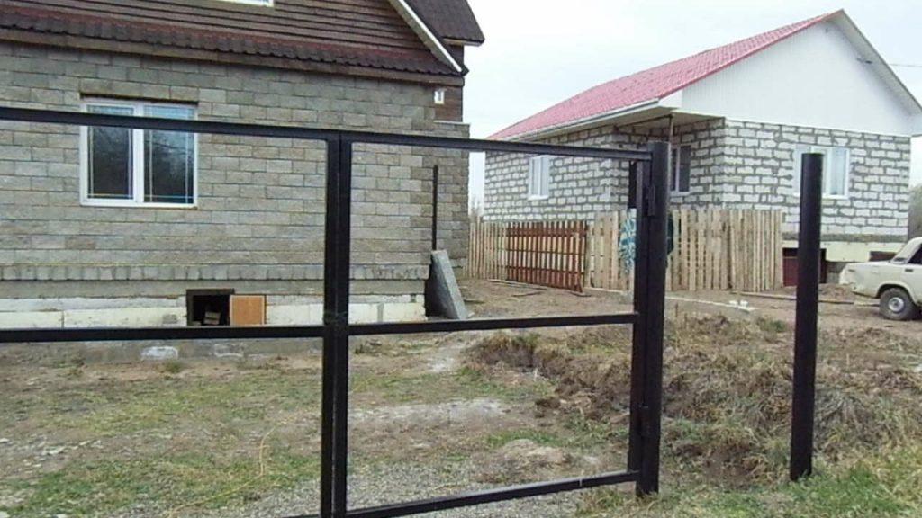 Каркас для ворот из профильной трубы
