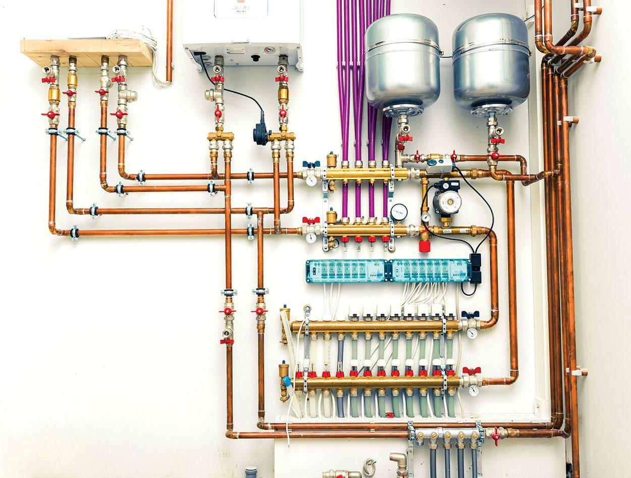 Система отопления закрытого типа в частном доме 60